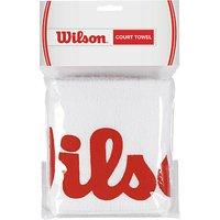 Wilson Tennis Court Towel, White/Red