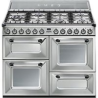 Smeg TR4110X Duel Fuel Range Cooker, Stainless Steel