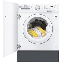 Zanussi ZWT71201WA Integrated Washer Dryer, 7kg Wash/4kg Dry Load, C Energy Rating, 1200rpm Spin, White