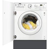 Zanussi ZWI71201WA Integrated Washing Machine, 7kg Load, A++ Energy Rating, 1200rpm Spin, White