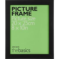 John Lewis The Basics Picture Frame, 8 x 10