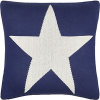 little home at John Lewis Stars & Stripes Cushion, Red/Blue