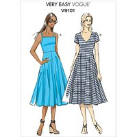 Vogue Very Easy Womens A-Line Dress Sewing Pattern, 9101