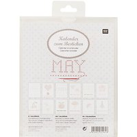Rico Embroidery Gift Tags, Pack of 4, Brown