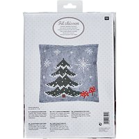 Rico Felt Cushion Cross Stitch Kit, Multi