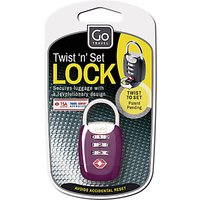 Go Travel 357 Twist n Set TSA Padlock, Assorted Colours