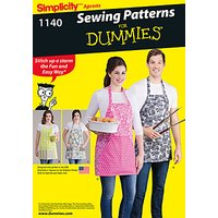 Simplicity Aprons in Four Styles Sewing Pattern, 1140, One Size