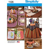 Simplicity Table Accessories Sewing Pattern, 1126, One Size