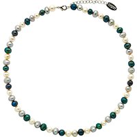 Finesse Fresh Water Pearl Necklace, White/Blue