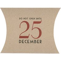East of India 25th Of December Pillow Pack, Brown/Red