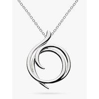 Kit Heath Sterling Silver Cubic Zirconia Helix Wrap Necklace, Silver