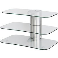 Off The Wall Skyline ARC800 Silver TV Stand for Curved Screen TVs up to 55