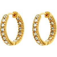Finesse Gold Plated Cubic Zirconia Hoop Earrings, Gold