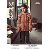 Bergere De France Sport Childrens Cable Cardigan Knitting Pattern, 70583