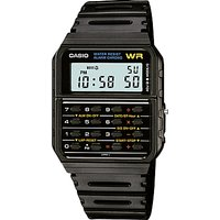 Casio CA-53W-1ER Unisex Calculator Resin Strap Watch, Black
