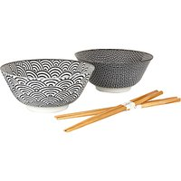 Tokyo Design Studio Bowl and Chopsticks, Set of 2
