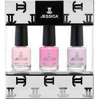 Jessica Pastel Midi Vitamin Enriched Custom Colours Nail Gift Set, 3 x 7.4ml