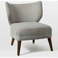 west elm Retro Wing Chair, Retro Weave Grey