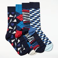 Happy Socks Exclusive Gift Box, One Size, Pack of 4, Multi