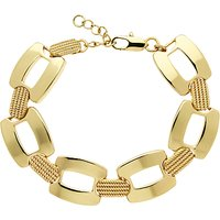 Monet Textured Link Bracelet, Gold