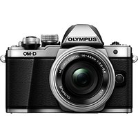 Olympus OM-D E-M10 Mark II Compact System Camera with 14-42mm EZ Lens, HD 1080p, 16.1MP, Wi-Fi, OLED EVF, 3 LCD Touch Screen, Silver