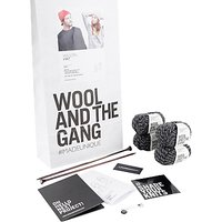 Wool and the Gang Wilson Hat Knit Kit, Shackwell Grey