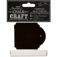 Docrafts Chalkboard Tag Set, Black, 12pcs