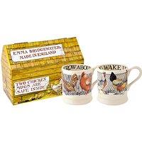 Emma Bridgewater Hen & Toast Half Pint Mugs, Set Of 2, Multi, 300ml