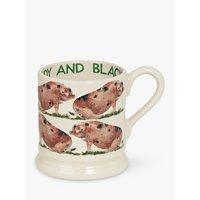 Emma Bridgewater Sandy & Black Pig Half Pint Mug, Multi, 310ml