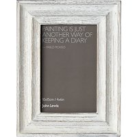 John Lewis Coastal Mango Wood Photo Frame, White, 4 x 6
