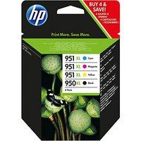 HP 950XL/951XL Ink Cartridge Multipack, Pack of 4