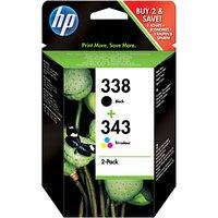 HP 338/343 Ink Cartridge Multipack, Pack of 2