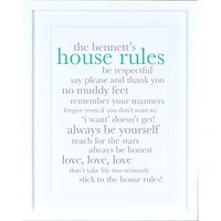 Megan Claire - Personalised Definiton House Rules Framed Print