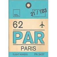 Nick Cranston - Luggage Labels: Paris Unframed Print with Mount, 40 x 30cm