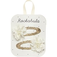 Rockahula Ruffle Hair Clips, Pack of 2, Ivory/Gold