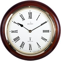 Acctim Durham Radio Controlled Wall Clock, Mahogany, 32cm