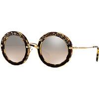 Miu Miu MU80RS Round Metal Frame Sunglasses