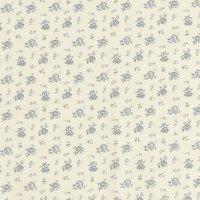 John Louden Cotton Floral Print Fabric, Cream