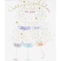 Woodmansterne Champagne Glasses Wedding Card