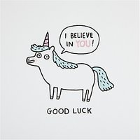 Ohh Deer Good Luck Unicorn Card