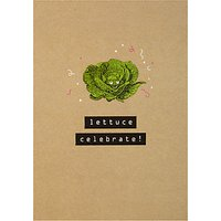 Art File Lettuce Celebrate Card