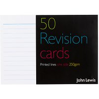 John Lewis Revision Cards, Pack of 50