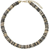John Lewis Multi Rings Necklace, Gold/Multi