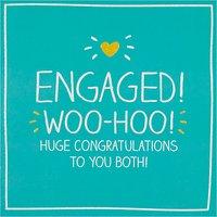 Happy Jackson Engaged! Woo-hoo! Engagement Card