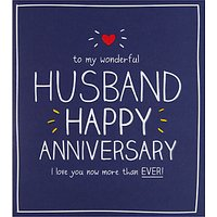 Happy Jackson Husband Happy Anniversary Card