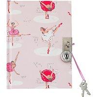 Cath Kidston Childrens Ballerina Print Diary, Pale Pink