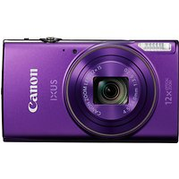 Canon IXUS 285 HS Digital Camera Kit, Full HD 1080p, 20.2MP, 12x Optical Zoom, 24x Zoom Plus, Wi-Fi, NFC, 3 LCD Screen With Leather Case & 8GB SD Card