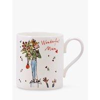 McLaggan Smith Quentin Blake 'Wonderful Mum' Bone China Mug