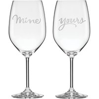 kate spade new york Two Of A Kind Mine & Yours Wine Glasses, Set of 2