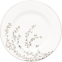 Kate Spade New York Gardener St Platinum Bone China 20cm Salad Plate, Silver/ White